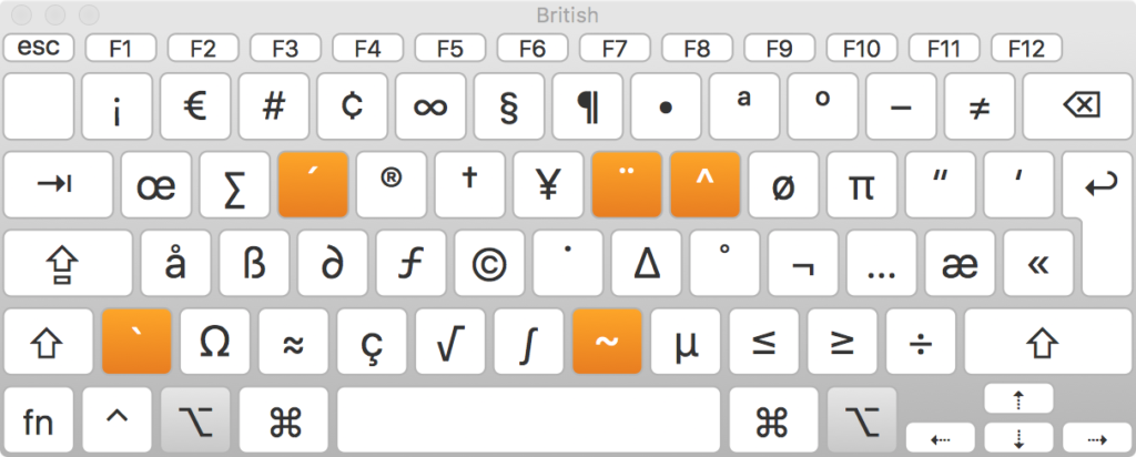Keyboard Layout British + Alt